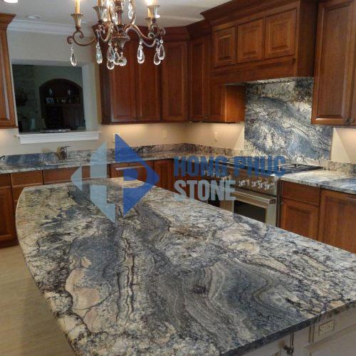 Mẫu đá bàn bếp Granite Azurite