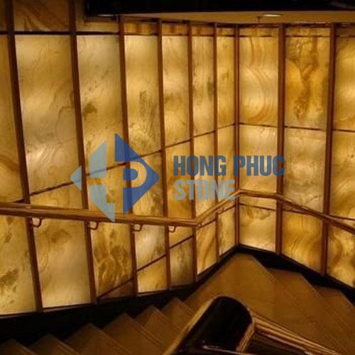 Đá OnyX Vàng Onice Opium ốp tường